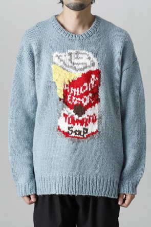 amok21-22AWError soup cans Knit Blue