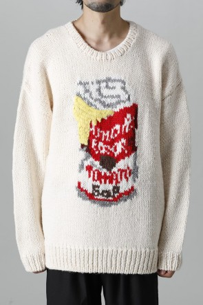 amok21-22AWError soup cans Knit White