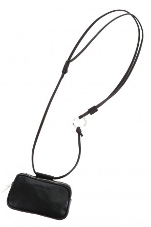 PATRICK STEPHANClassicLeather micro shoulder bag 'double zip'-S.BLACK-Free