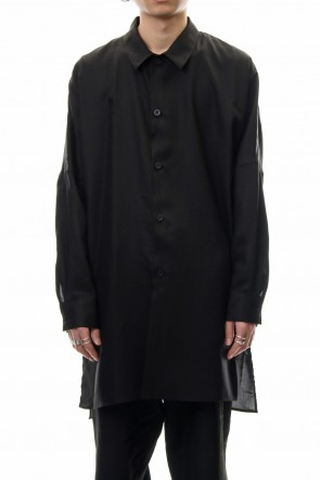 CLANE HOMME 19SS SIDE SLIT LONG SH Black