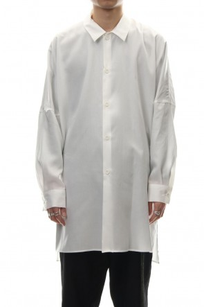 CLANE HOMME 19SS SIDE SLIT LONG SH White