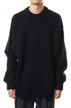 CLANE HOMME 19-20AW ZIP KNIT TOPS Black