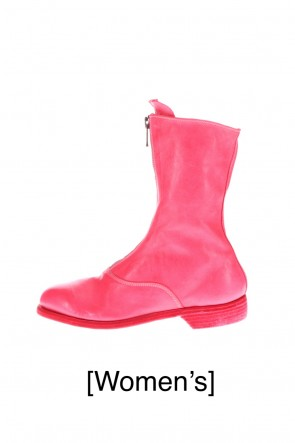 Guidi 20-21AW Middle Front Zip Boots Single Sole - Soft Horse Full Grain Leather - Pink