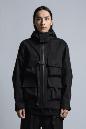 The Viridi-anne 21SS CORDURA NYLON COTTON 3Layer Mountain Jacket Black