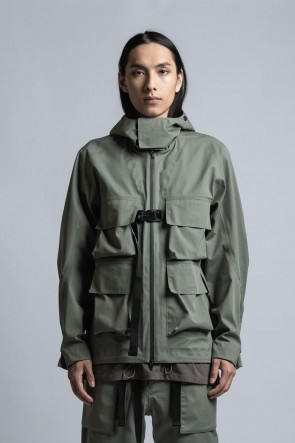The Viridi-anne 21SS CORDURA NYLON COTTON 3Layer Mountain Jacket Sage Green