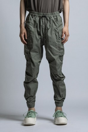 The Viridi-anne 21SS CORDURA NYLON COTTON Water Repellent Pull-Up Side Pocket Pants Sage Green