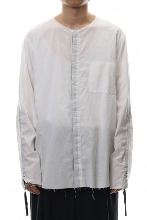 ASKyy 18-19AW No color ribbon shirts - White