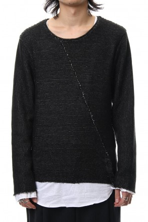 ASKyy 18-19AW Layered Slash Knit - BLK/WHT