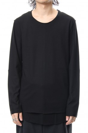ASKyy 18-19AW Layered Cutsew L/S - black