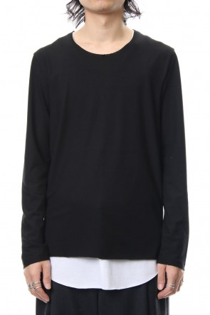 ASKyy 18-19AW Layered Cutsew L/S - blk/wht