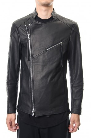 ASKyy 18-19AW Twin Zip Leather Jacket - blk