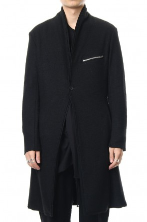 ASKyy 18-19AW 2way Collar Coat - blk