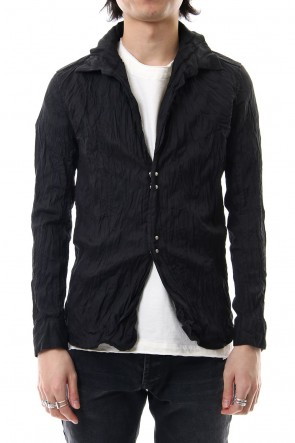 wjk 19SS linen hook shirt black