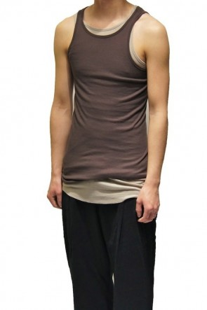 【Sexprimer UNDERWEAR 】TANK-TOP (03) Dark Brown