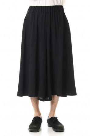 RONDO.ym20SSSilk Georgette Cropped Wide Pants