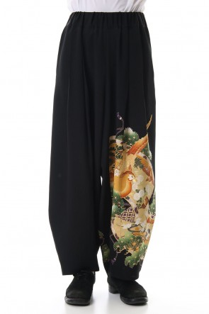 RONDO.ym 19-20AW Silk Georgette Wide Pants B