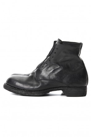 Guidi 19SS Military Lace Up Boots - Horse Full Grain Leather Black