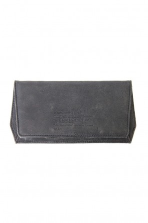 JULIUS 18PF Polygon Wallet (COATED GOAT SUEDE)