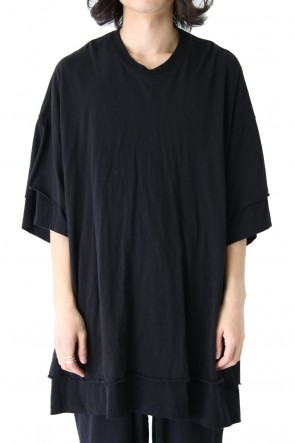 JULIUS 18PF Layered Double T-shirt
