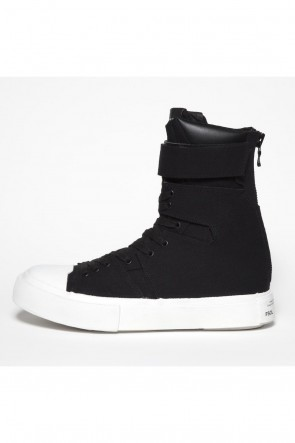 JULIUS 18-19AW Canvas Strap Edge Sneaker