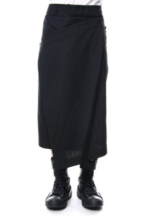JULIUS 19PS ATTACHED SKIRT TROUSERS Stripe