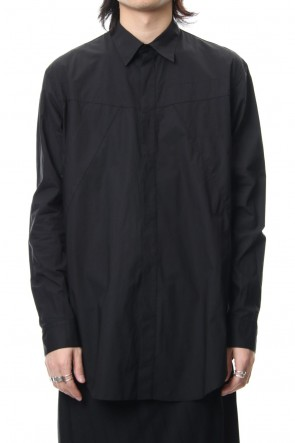 JULIUS 19PS SEAMED SHIRT Black