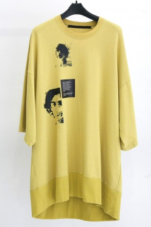 JULIUS 19SS PRINT BIG T-SHIRT Yellow
