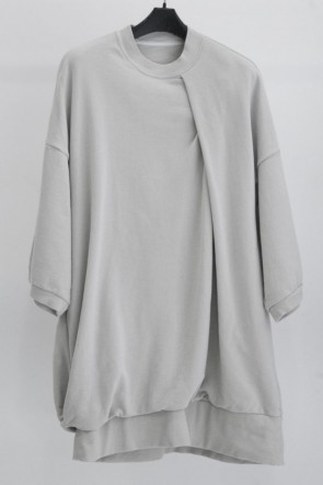 JULIUS 19SS TUCKED BIG T-SHIRT Beige