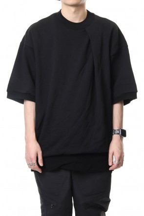 JULIUS 19SS TUCKED BIG T-SHIRT Black
