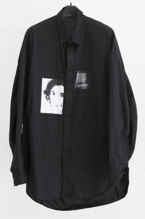 JULIUS 19SS PRINT DROP SHOULDER SHIRT Black