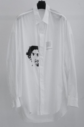 JULIUS 19SS PRINT DROP SHOULDER SHIRT White