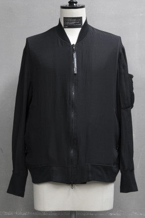 JULIUS 19PF BOMBER JACKET Black