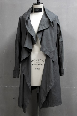 JULIUS 19PF COVERED MODS COAT Khaki Gray