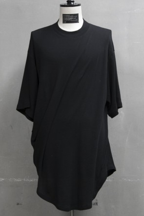 JULIUS 19PF DRAPING T-SHIRT Black