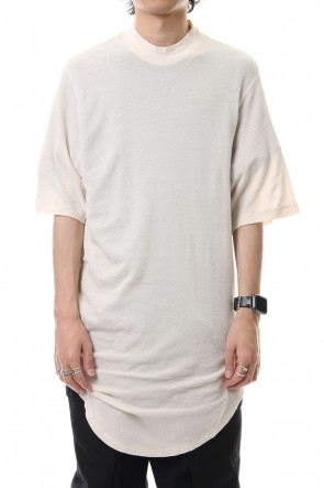 JULIUS 19PF DRAPING T-SHIRT Light Beige