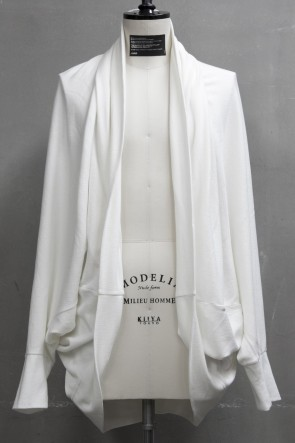 JULIUS 19PF COCOON JACKET White