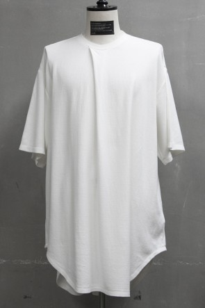 JULIUS 19PF TUCKED T-SHIRT White