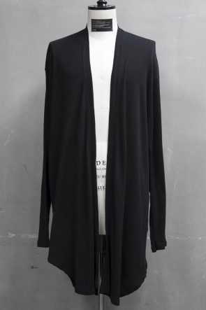 JULIUS 19PF FRONTLESS CARDIGAN Black