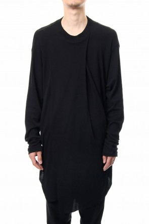 JULIUS 19PF DRAPING SHIRT Black