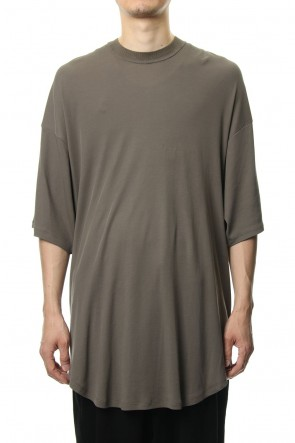 JULIUS 19PF ROUND BIG T-SHIRT Khaki