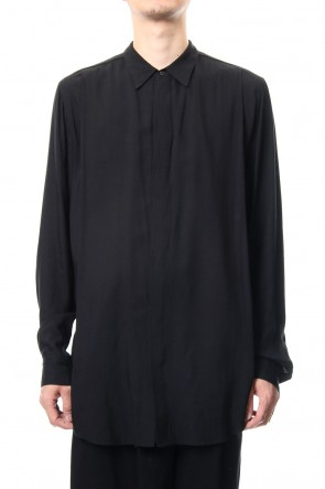 JULIUS 19PF TUCKED SHIRT Black