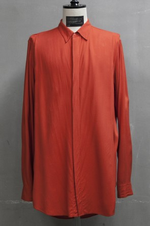 JULIUS 19PF TUCKED SHIRT Orange