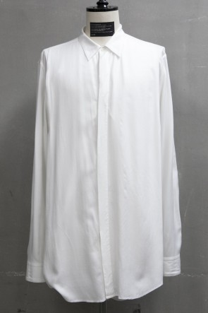 JULIUS 19PF TUCKED SHIRT White