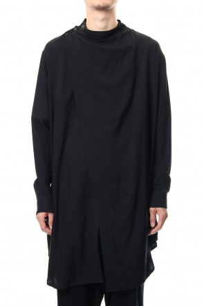 JULIUS 19PF COVERED SHIRT Black