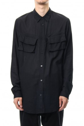 JULIUS 19PF MILITARY SHIRT Black