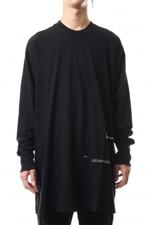 JULIUS 19-20AW GATAER SEAMD LONG SLEEVE SHIRT Black