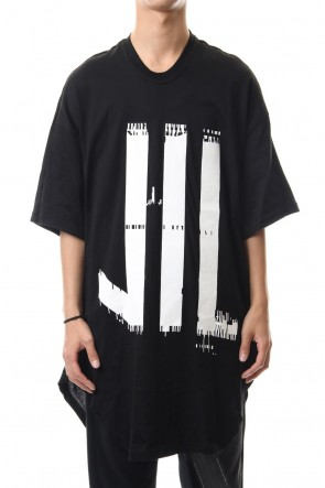 NILøS 19-20AW KAMON ROUND T-SHIRT Black×White