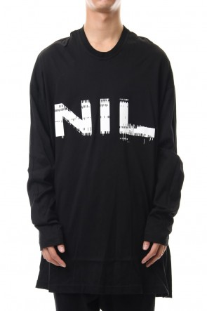 NILøS 19-20AW NIL LONG SLEEVE SHIRT Black×White