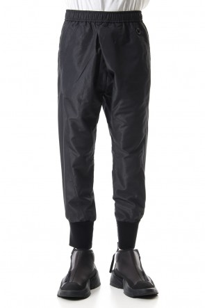 NILøS 19-20AW TUCKED TRACK PANTS Black