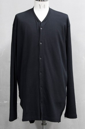 JULIUS 20PS FRAMED HEM CARDIGAN Black